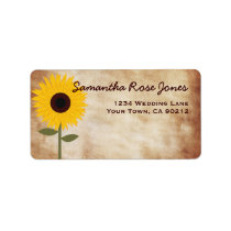 Sunflower Rustic Distressed Paper Look Address Label