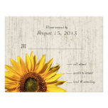 Sunflower Rustic Wedding/ Response Custom Invite