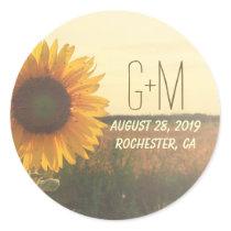 Sunflower Rustic Wedding Stickers