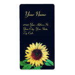 SUNFLOWER Rustic Wedding Summer Party Label