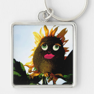 Sunflower Sal i-phone cases & gifts Silver-Colored Square Keychain