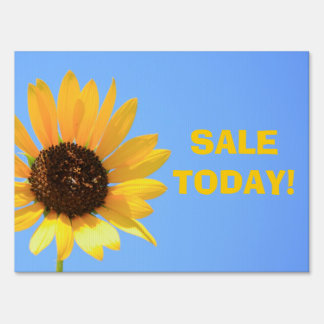 Sunflower Sale Today Yard Sign
