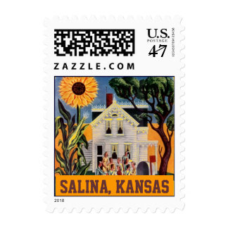 Sunflower Salina Kansas Front Porch Rural Stamps