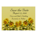Sunflower Save the Date Card Business Cards