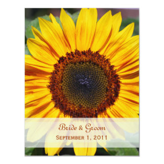 Sunflower Save The Date Card Custom Invitations
