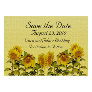 Sunflower Save the Date Card Large Business Card