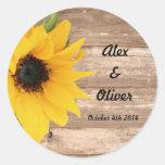 Sunflower Save the date envelope sticker