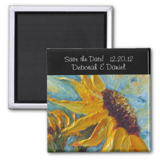 Sunflower Save the Date Fridge Magnet