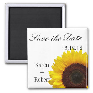 Sunflower: Save the Date Magnet