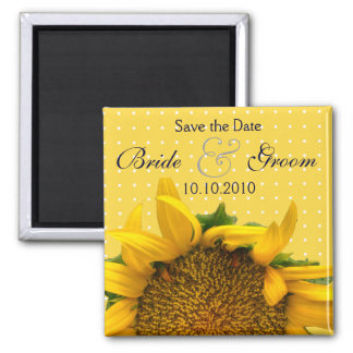 Sunflower Save-The-Date Magnet