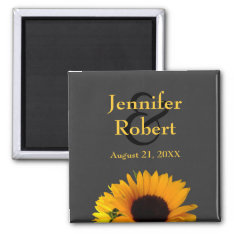 Sunflower Save The Date Magnet at Zazzle