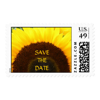 Sunflower Save The Date Postage Stamp