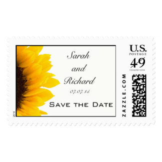 Sunflower Save the Date Postage