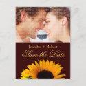 Sunflower Save the Date Postcard postcard