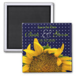 Sunflower Save-The-Date Refrigerator Magnet