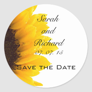 Sunflower Save the Date Stickers