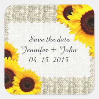 Sunflower save the date stickers sunflower1