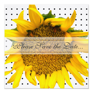 Sunflower Save The Date with dots Card