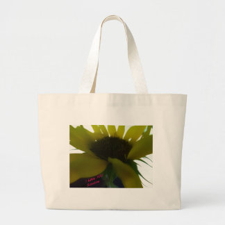 Sunflower say I love you 2 Large Tote Bag