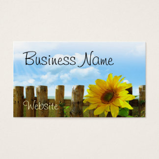 Sunflower Scene Business Card