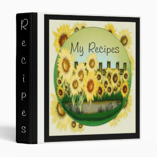 Sunflower Scene Recipe Binder
