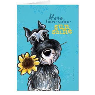 Sunflower Schnauzer Cheer Up Card