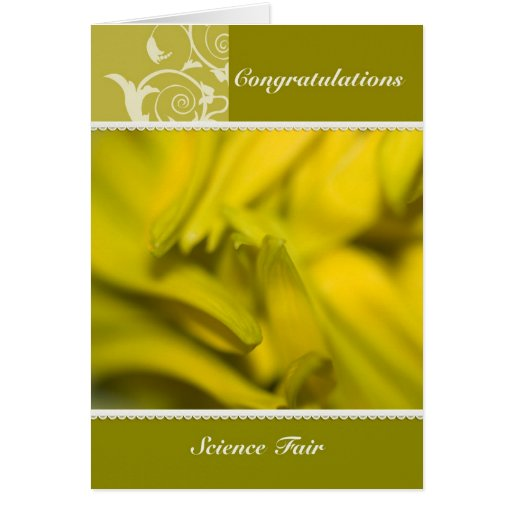 Sunflower - Science Fair Congratulations Card