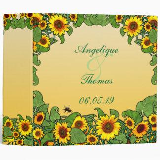 Sunflower Scroll 3 Ring Binder