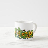 Sunflower Scroll Espresso Mug