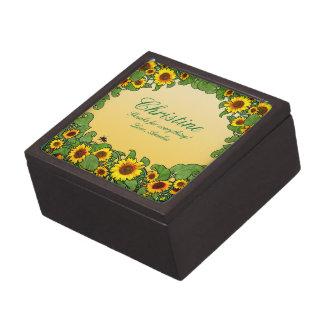Sunflower Scroll Gift Box