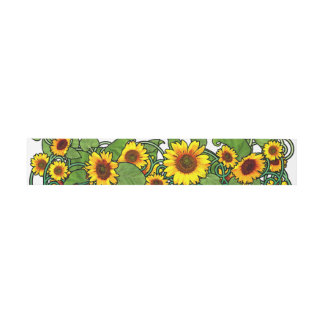 Sunflower Scroll Invitation Belly Band