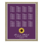 Sunflower Seat Chart with Changeable Color Posters