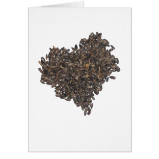 Sunflower Seed Heart Card