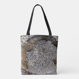 Sunflower Seeds on Wood Tote Bag