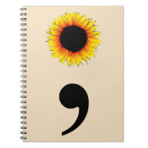 Sunflower Semicolon Notebook