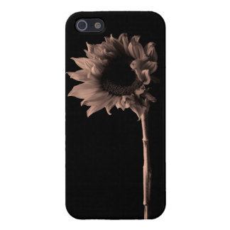 Sunflower - Sepia Fine Art Photograph iPhone SE/5/5s Cover