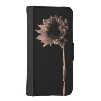 Sunflower - Sepia Fine Art Photograph Wallet Phone Case For iPhone SE/5/5s