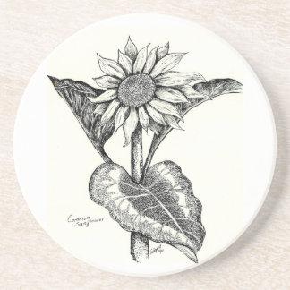 Sunflower Sketch Coaster