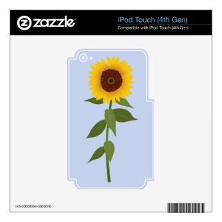 Sunflower Decals For iPod Touch 4G