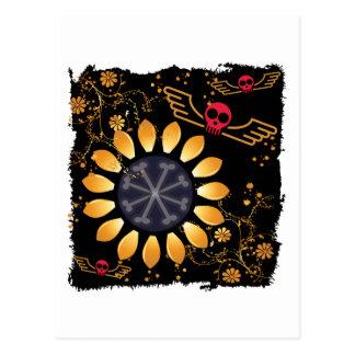 Sunflower Skulls Postcard