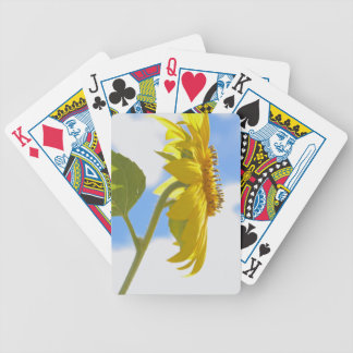 Sunflower Sky Photo Bicycle Playing Cards