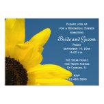 "Sunflower & Sky Wedding Rehearsal Dinner Invite 5"" X 7"" Invitation Card"