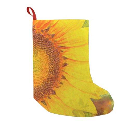 Sunflower Small Christmas Stocking
