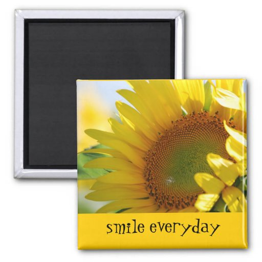 Sunflower Smile Magnet