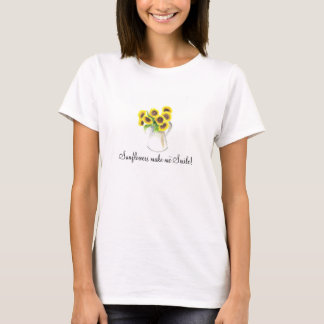 Sunflower smile painting front design T-Shirt