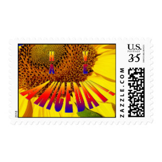 sunflower smiley have a nice day stamp