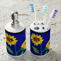 Sunflower Soap Dispenser and Tooth Brush Holder
