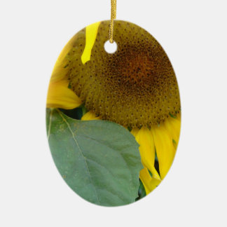 Sunflower Solo Ceramic Ornament