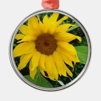Sunflower Solo Metal Ornament