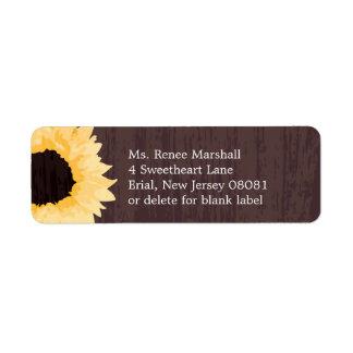 Sunflower Splendor | Return Address Return Address Label